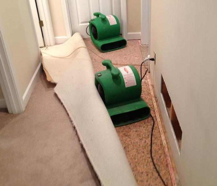 Water damage to home in Huntington After