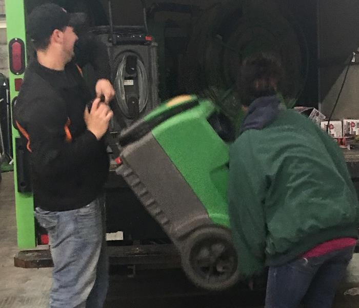 Getting the Big Green Truck ready